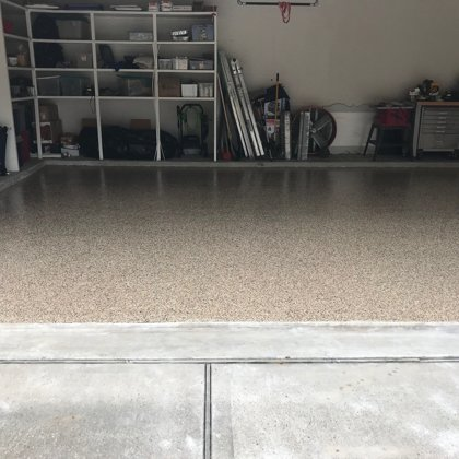 Flake Floor Garage - Outback